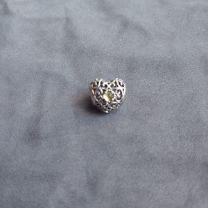 Pandora August Heart Birthstone Charm